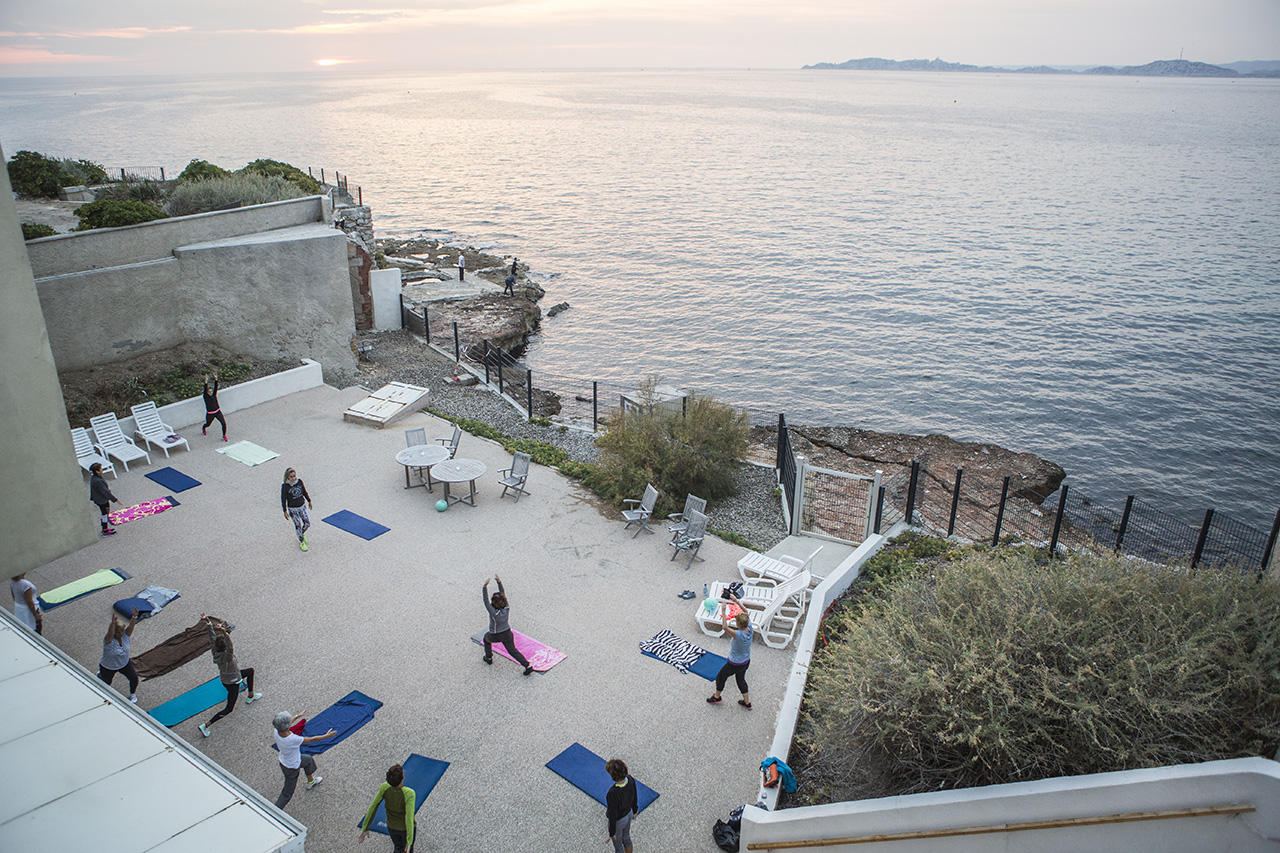 Gym en plein air vue mer